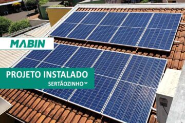 MABIN Projetos, mais uma obra entregue na cidade de Sertãozinho/SP, projeto com capacidade instalada de 10,05 kWp, 30 módulos fotovoltaicos e 01 inversor.