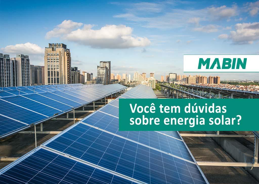 Você tem dúvidas sobre energia solar? Agora será muito mais fácil tirar todas as dúvidas sobre o mercado de energia solar, aproveite e tire suas dúvidas!