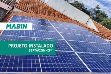 MABIN Projetos, mais uma obra entregue em de Sertãozinho/SP, projeto com capacidade instalada de 4,32 kWp, 12 módulos Canadian e 01 inversor Renovigi 5kWp.