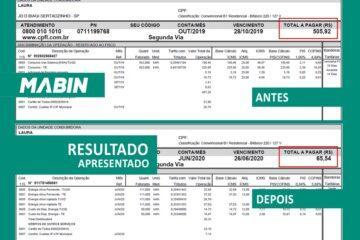 MABIN comprova resultados | Projeto Sertãozinho/SP | 10,05 kWp - Veja o antes e o depois da conta de energia de um cliente MABIN.