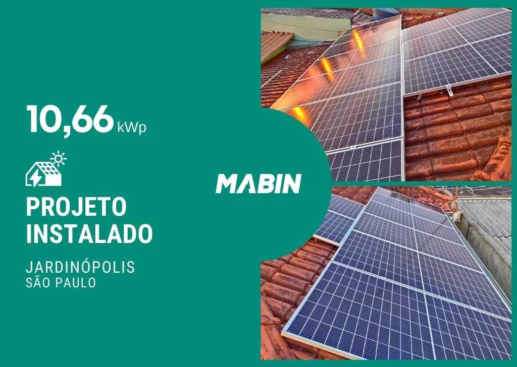 MABIN Projetos, energia solar entregue em Jardinópolis/SP, projeto com capacidade instalada de 10,66kWp, 26 módulos 410W e 01 inversor 8,2kWp