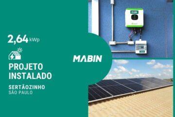 MABIN Projetos, energia solar entregue em Sertãozinho/SP, projeto com capacidade instalada de 2,64kWp, 06 módulos 440W e 01 inversor 2,5kWp