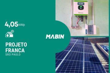Energia solar em Ipuã/SP, Projeto realizado pela MABIN com capacidade instalada de 2,70kWp, 06 módulos 450W e 01 inversor 2,5kWp